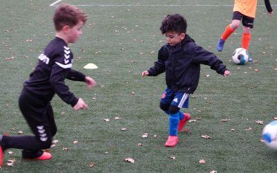 De woensdag techniektraining van SDC voetbalacademie